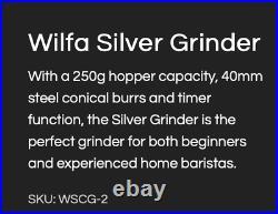 Wilfa Silver Burr Grinder